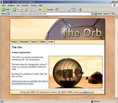 The Orb, the robotic ball